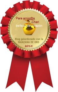 Premio hermoso me regalado mi querida Chari amiga y hermana del alma.